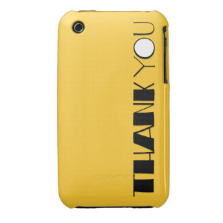 Grande gracias el iPhone negro 3G 3GS Barely There iPhone 3 Case-Mate Cárcasas
