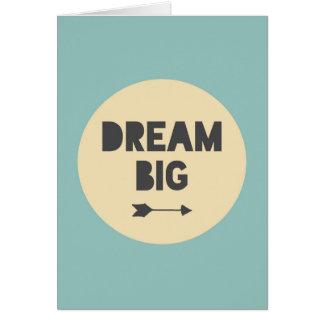 Grande ideal - azul tarjeta de felicitación