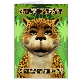 Grande - tarjeta de cumpleaños de la selva del leo
