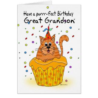 grande - tarjeta de cumpleaños del nieto con la ma