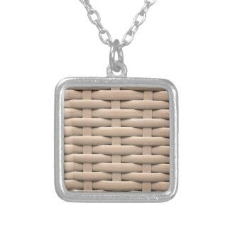 Grande trenza la cesta, beige collar personalizado