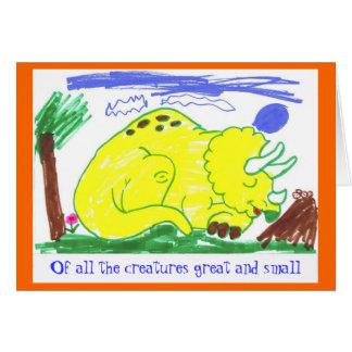 Grande y pequeño en octubre tarjeta de felicitación