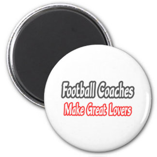 Grandes amantes de los entrenadores de fútbol… imán redondo 5 cm