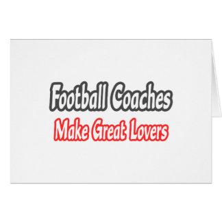 Grandes amantes de los entrenadores de fútbol… tarjeta de felicitación