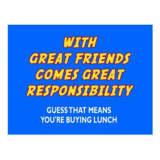 Grandes amigos (almuerzo) postal