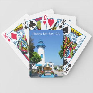 ¡Grandes naipes de Marina Del Rey! Baraja Cartas De Poker