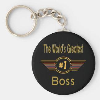 Grandes regalos para Boss Llavero Redondo Tipo Chapa