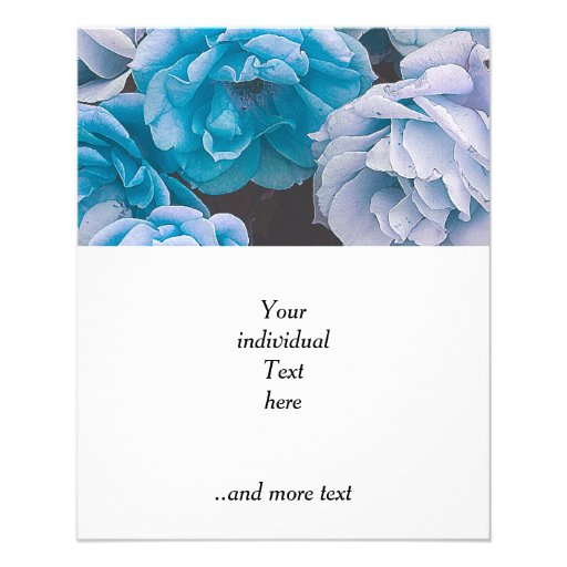 Grandes rosas del jardín, azules flyer a todo color