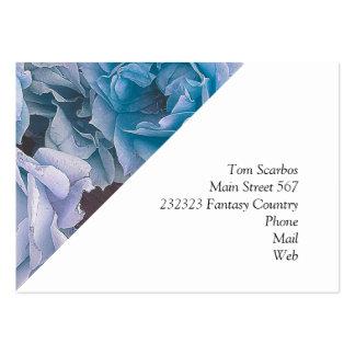 Grandes rosas del jardín, azules tarjeta de visita