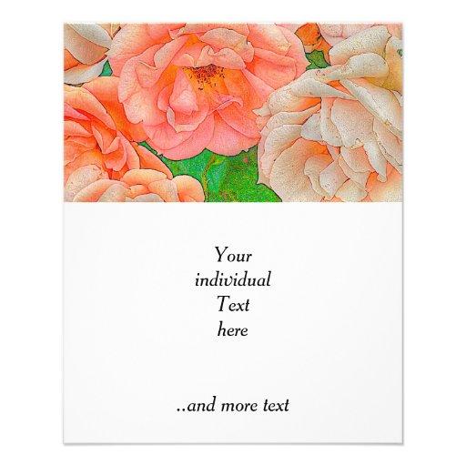 Grandes rosas del jardín, naranja tarjeta publicitaria