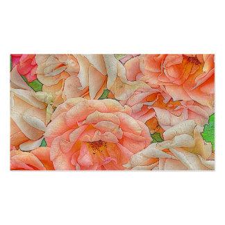grandes rosas del jardín, naranja plantillas de tarjeta de negocio