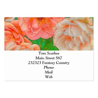 Grandes rosas del jardín, naranja plantillas de tarjetas personales