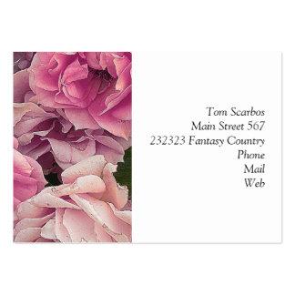 Grandes rosas del jardín, rosados tarjeta de negocio