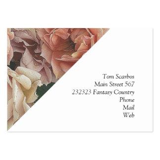 Grandes rosas del jardín plantillas de tarjeta de negocio