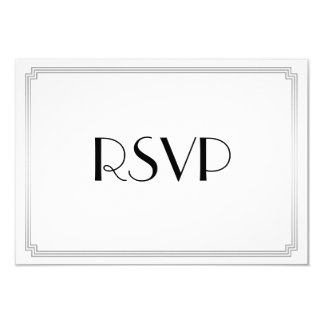 Grandes tarjetas de RSVP de la bodas de plata del Invitación 8,9 X 12,7 Cm