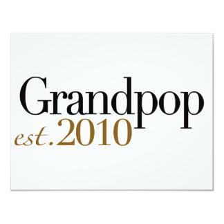 Grandpop Est 2010 Invitación 10,8 X 13,9 Cm