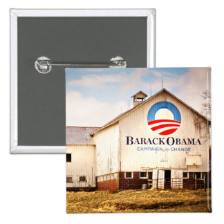 Granero de la campaña presidencial de Barack Obama Chapa Cuadrada