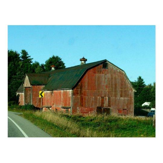 Granero de Vermont - postal