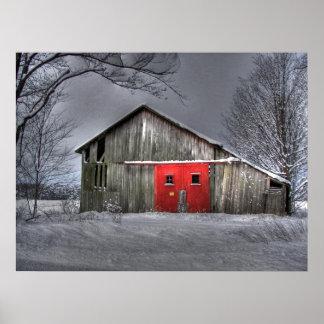 Granero del invierno póster