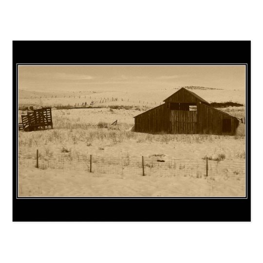 Granero del vintage fuera de Weiser Idaho Postal