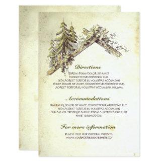 Granero en la tarjeta de detalles de madera del invitación 8,9 x 12,7 cm