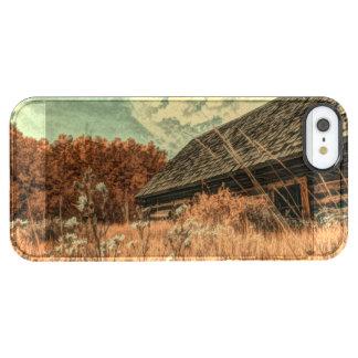 granero viejo de la granja del wildflower del funda transparente para iPhone SE/5/5s