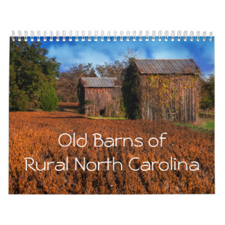 Graneros viejos del calendario rural de Carolina
