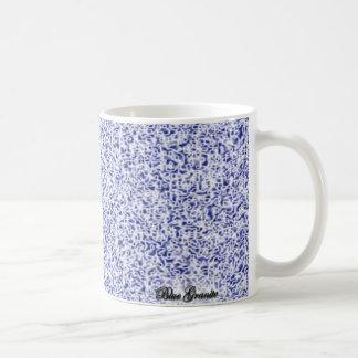 Granito azul taza básica blanca