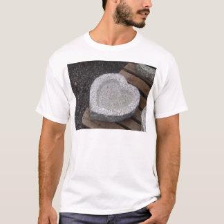 granito esculpido de los cuencos del shap del camiseta