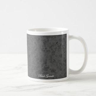 Granito negro taza básica blanca