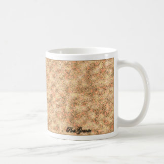 Granito rosado taza básica blanca