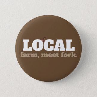 Granja, botón local de la comida de la bifurcación