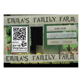 Granja de la familia de Emma Tarjetas De Visita Grandes