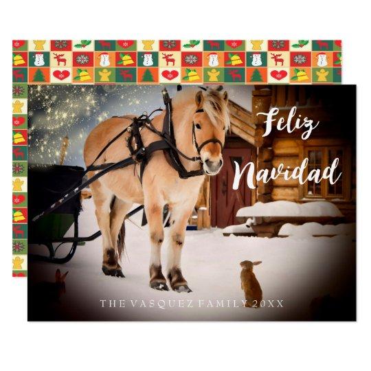 Granja de la noche de la tarjeta de Navidad de