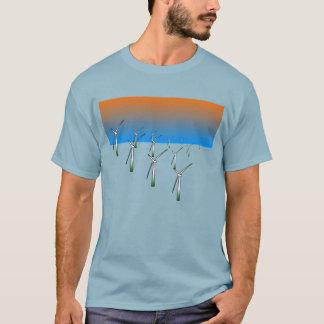 Granja de la turbina de viento camiseta
