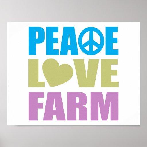 Granja del amor de la paz posters
