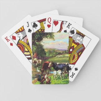 Granja del vintage baraja de cartas