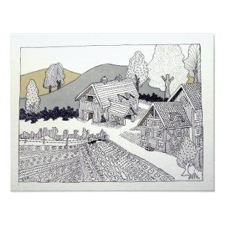 Granja en Vermont por Piliero Invitación 10,8 X 13,9 Cm