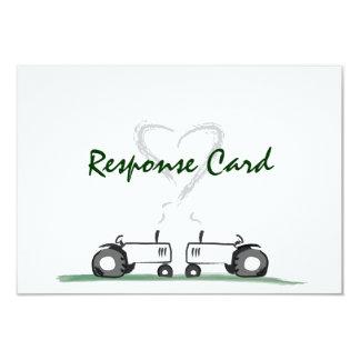 Granja que casa la tarjeta de RSVP: Estilo clásico Invitación 8,9 X 12,7 Cm