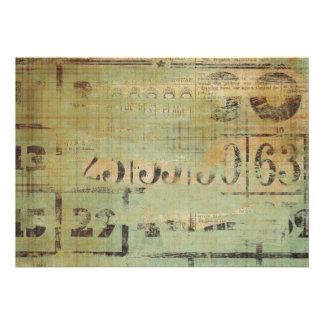 Granja rústica del collage del bingo comunicados personalizados
