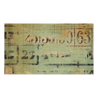 Granja rústica del collage del bingo tarjetas de visita