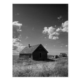 granja vieja de la pradera en Saskatchewan Canadá Postal