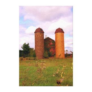 Granja vieja en Goochland Va Impresion En Lona