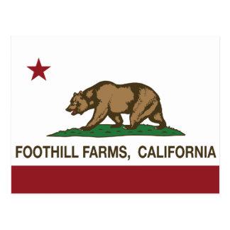 Granjas de la colina de la bandera del estado de C Tarjeta Postal