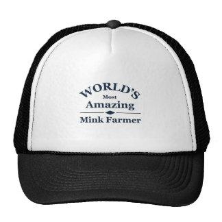 Granjero asombroso del visión del mundo gorras
