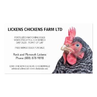 Granjero barrado del huevo del pollo de la roca tarjetas de visita