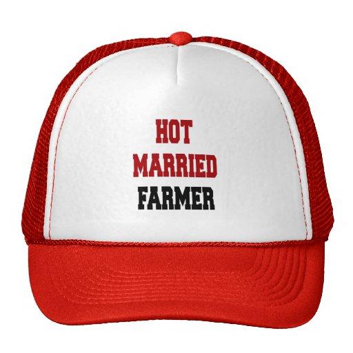 Granjero casado caliente gorras