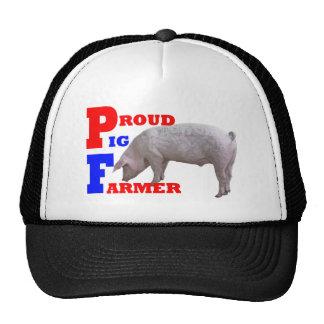 Granjero de cerdo gorro de camionero