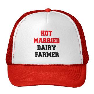 Granjero de lechería casado caliente gorras