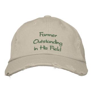 Granjero excepcional en su gorra del campo gorra de béisbol bordada